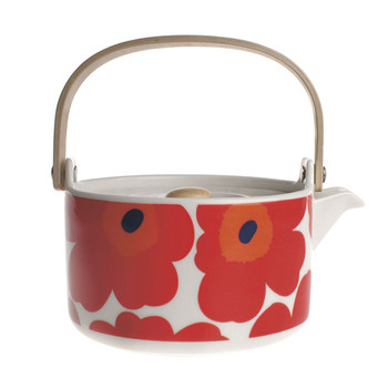 Unikko Teapot - White/Red