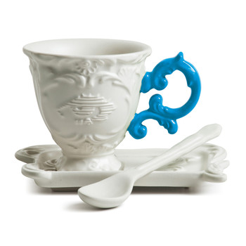 I-Wares Porcelain Coffee Set - Light Blue