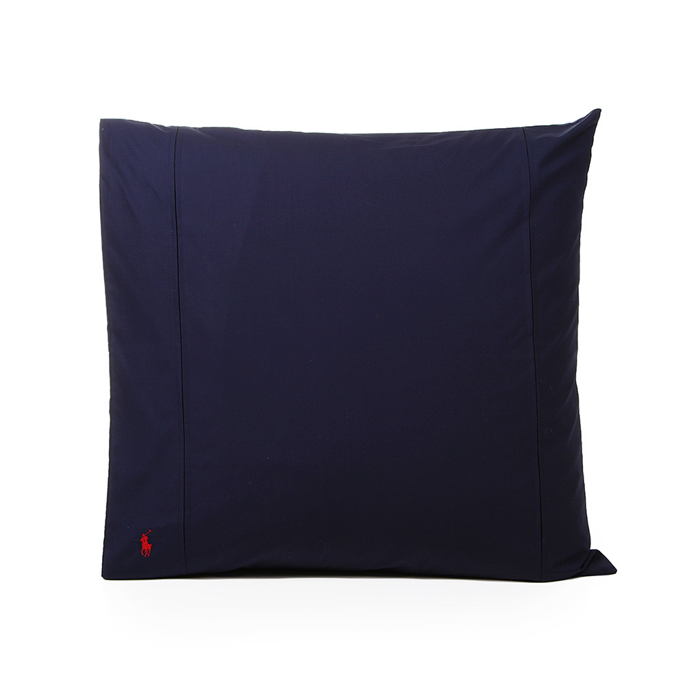 Polo Player Pillowcases Navy Set Of 2 65x65cm