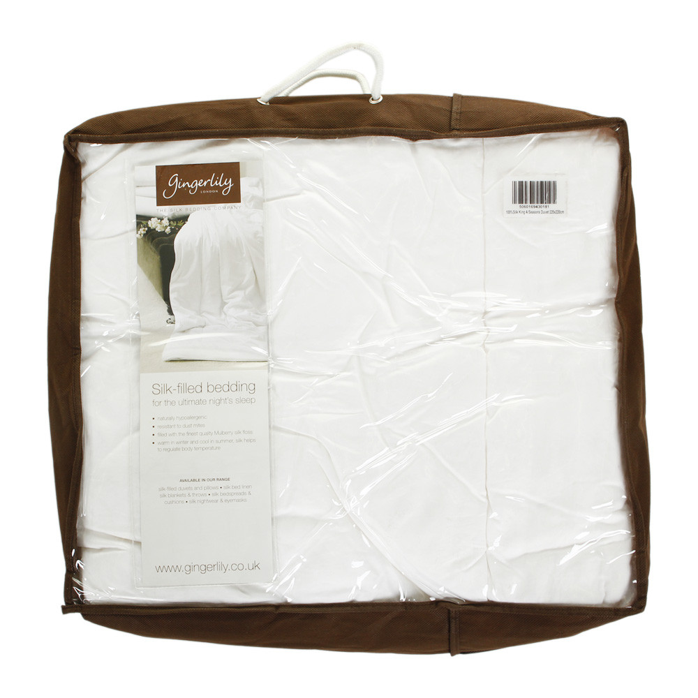 Gingerlily  100% Silk Filled All Seasons Duvet  Super King (UK/EU size)