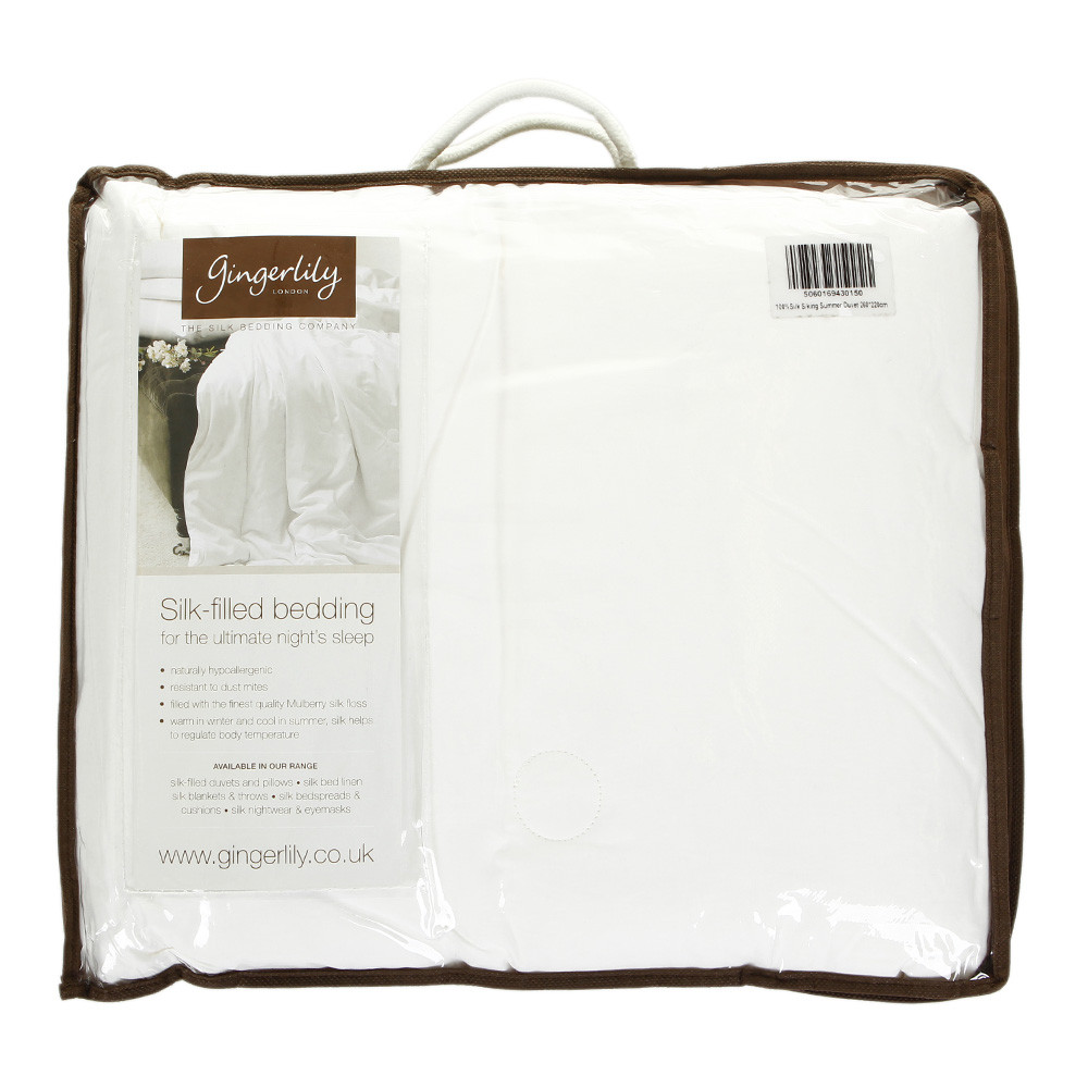 Gingerlily  100% Silk Filled Summer Duvet  King (UK size)