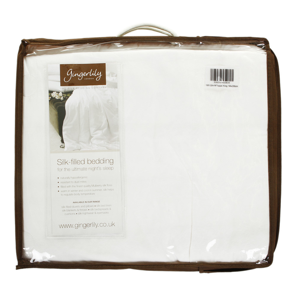 Gingerlily  100% Silk Mattress Topper  King
