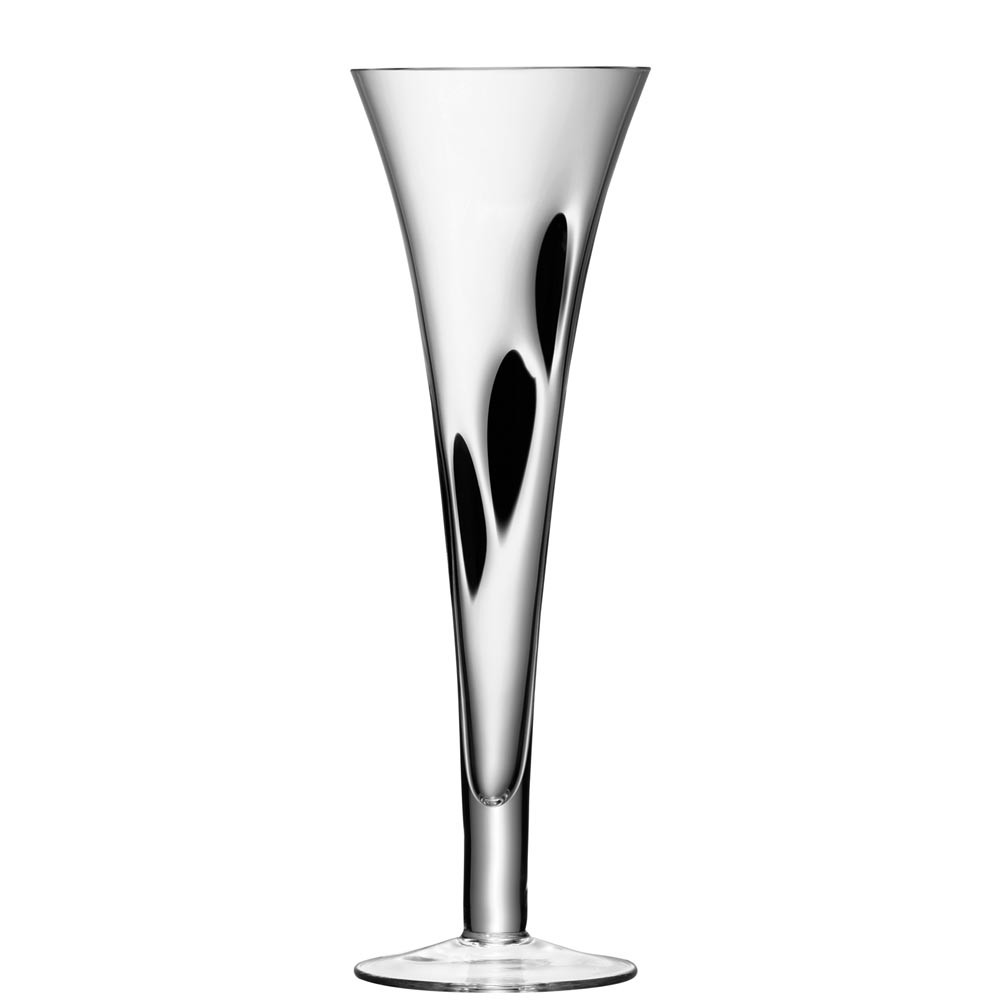 Buy LSA International Jazz Black Assorted Champagne Flutes   Set Of 4 |  Amara Nice Look