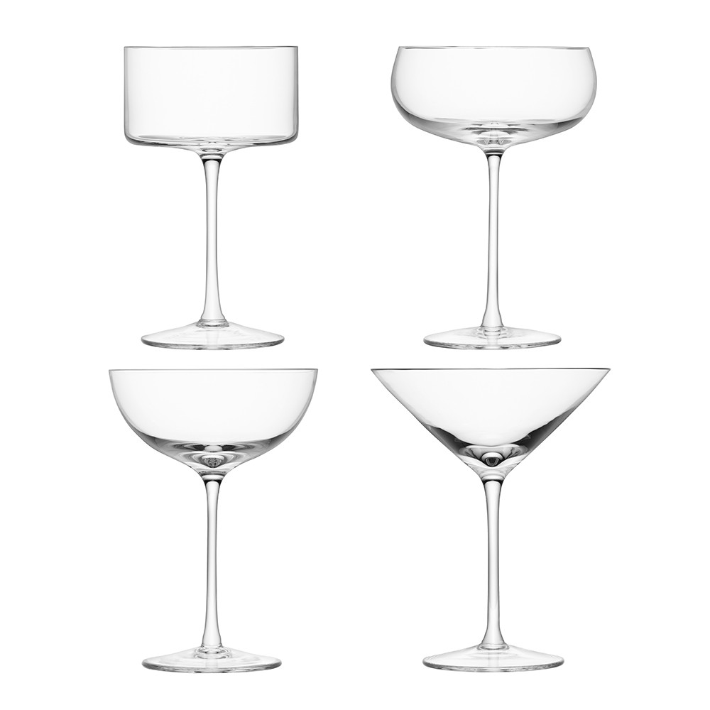 Buy Lsa International Lulu Cocktail Glasses Set Of 4 Assorted