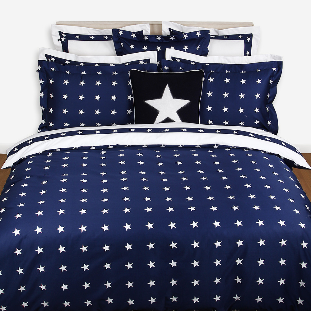 buy gant star border duvet cover  navy  amara -