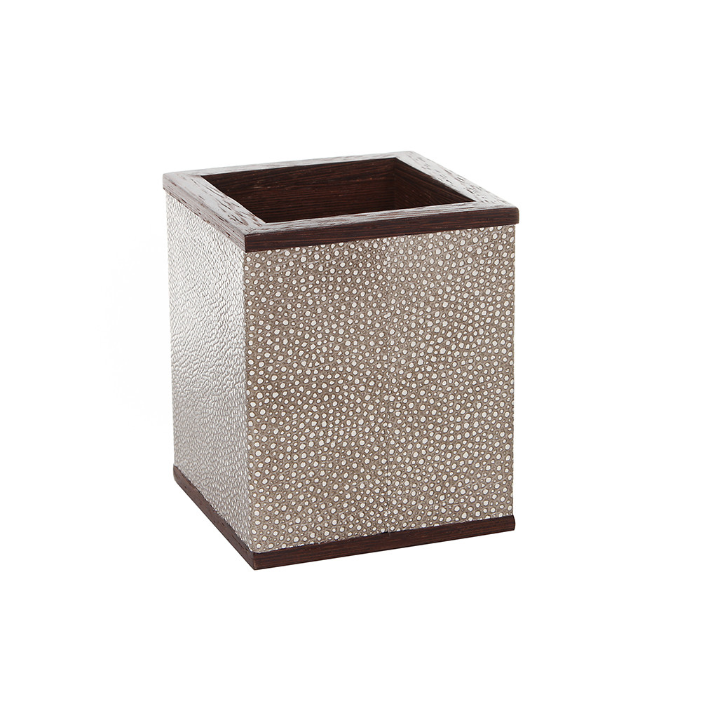 Alexander James - Wenge  Smoke Shagreen Pen Pot