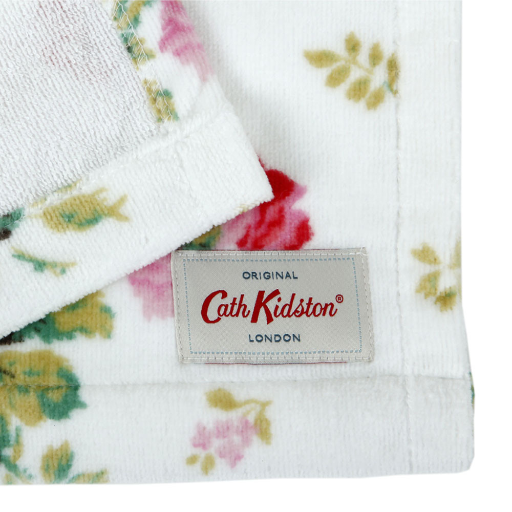 Reproduction Vintage Bath Towels: Buy Cath Kidston Antique Rose Bouquet Towel - White
