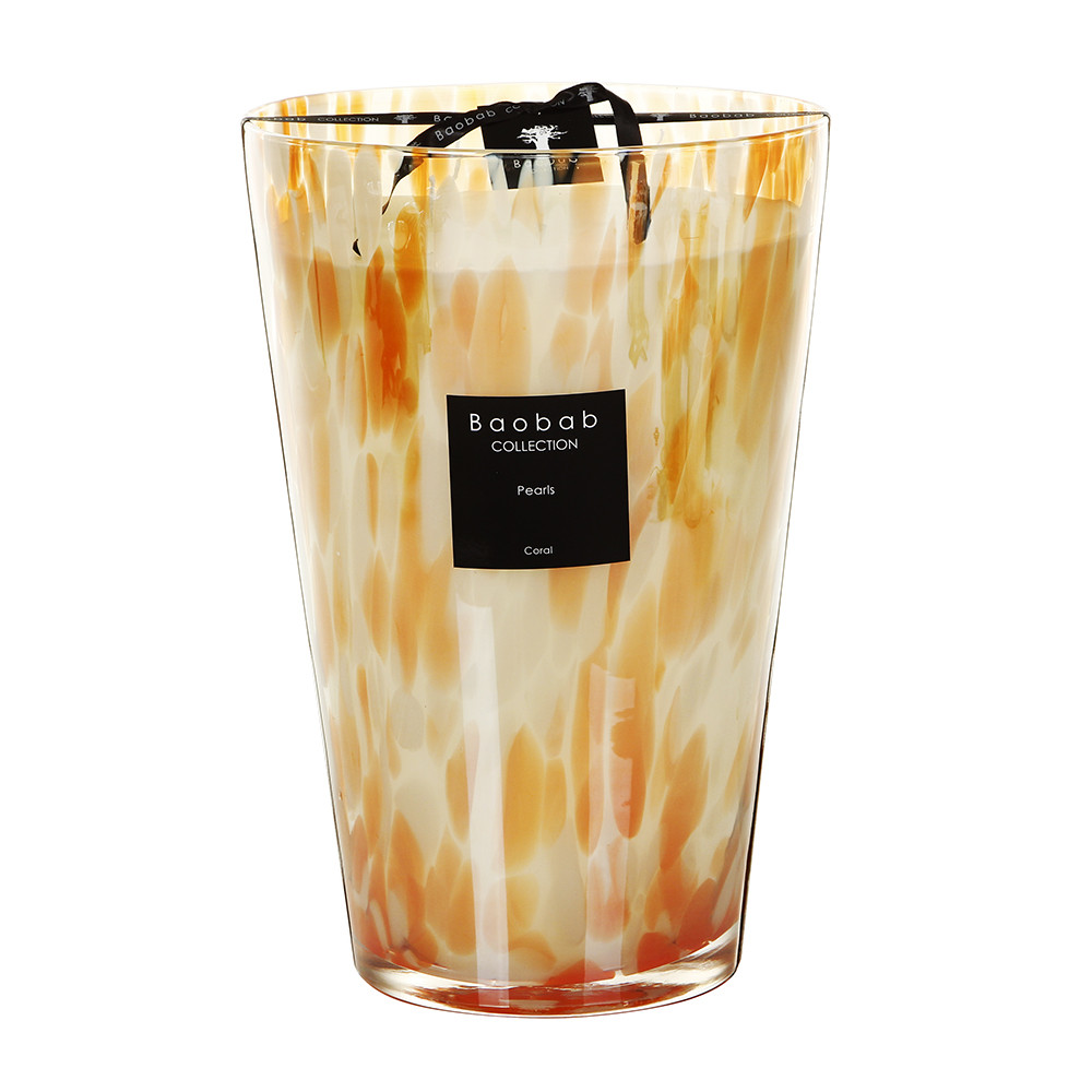 Baobab Collection - Bougie Parfumée Pearls - Coral Pearls - 35cm