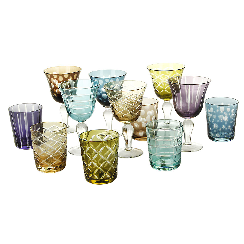 Pols Potten - Mixed Cuttings Glass Tumblers - Set of 6