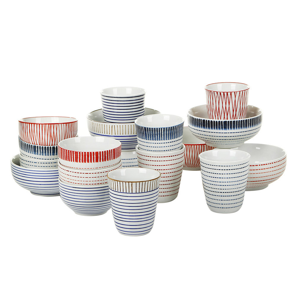 Pols Potten - Block Stripe Bowls - Set of 6 - Medium