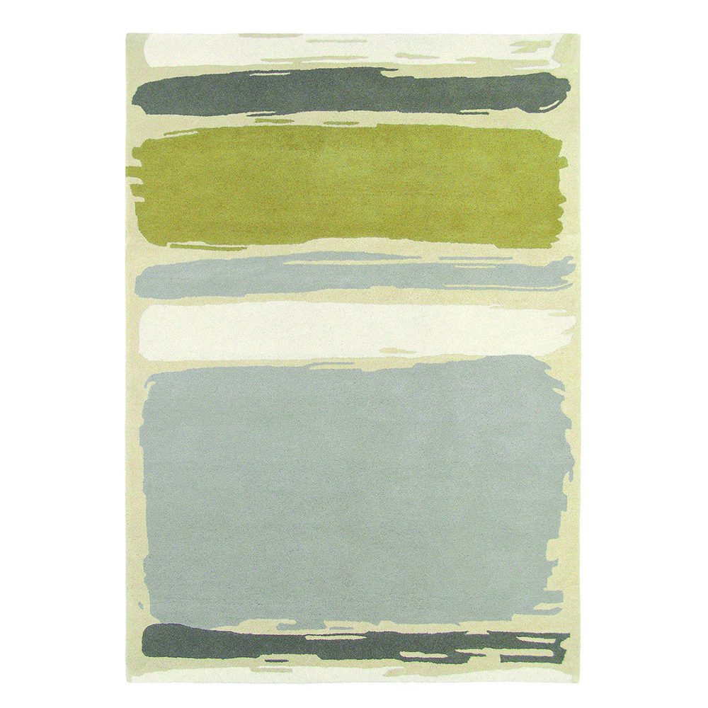 Sanderson - Abstract Linden/Silver Rug - 200x280cm