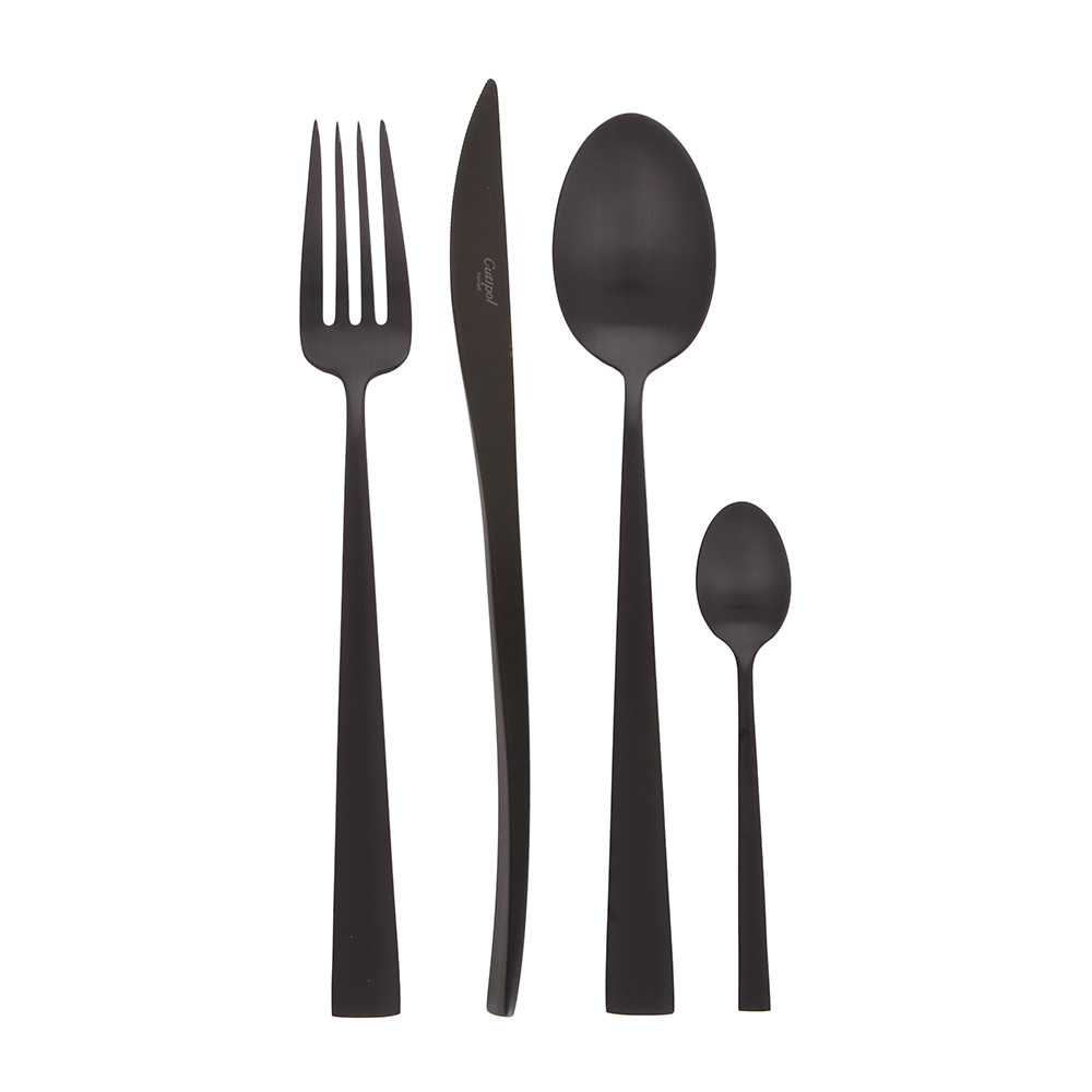 Cutipol - Duna 24 Piece Cutlery Set - Matt Black