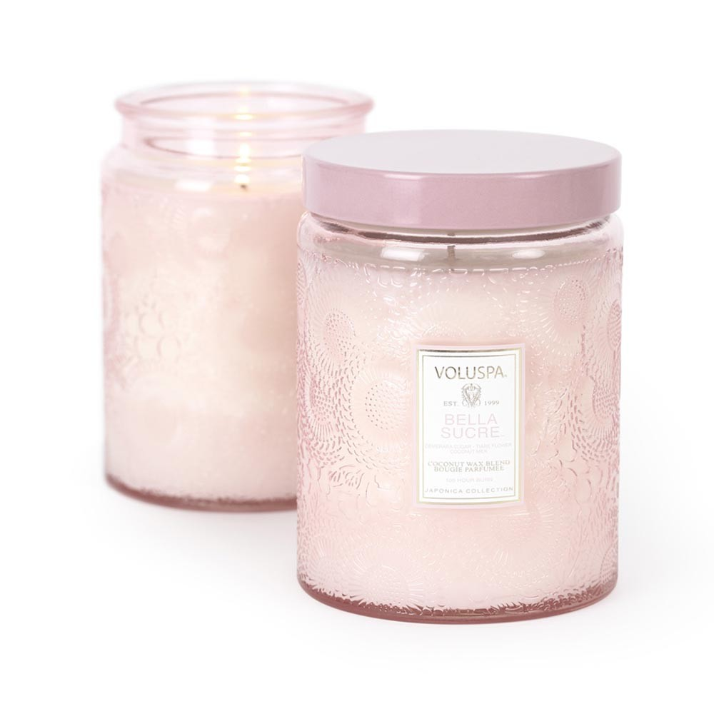Voluspa - Japonica Large Glass Candle - Bella Sucre