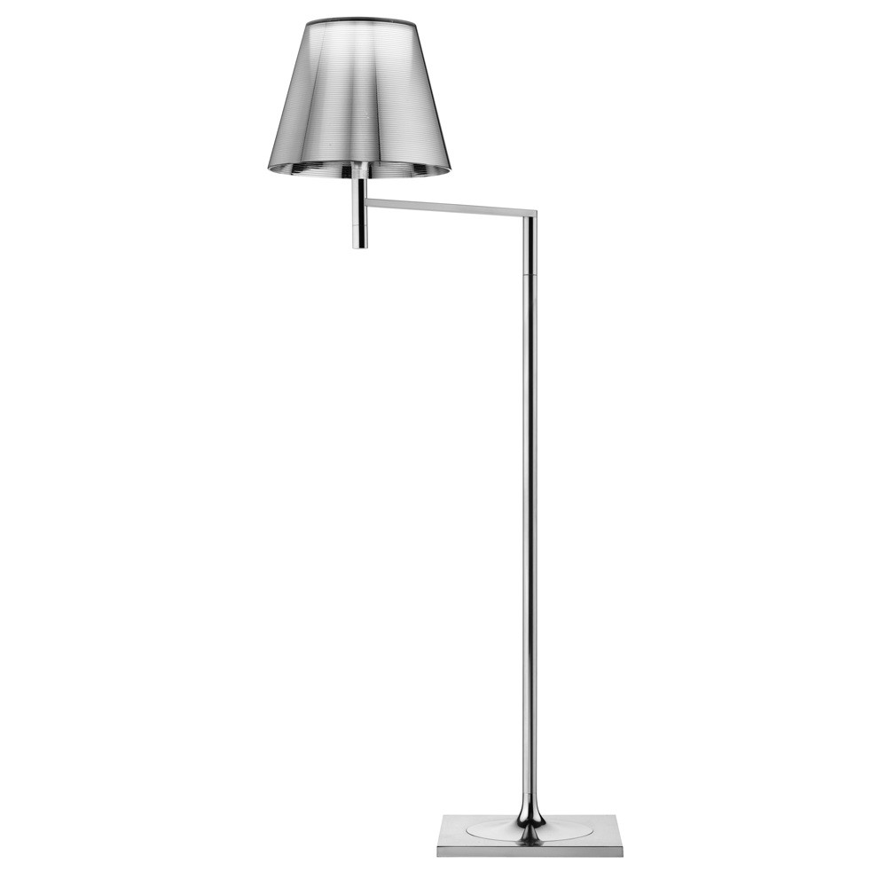 Buy flos ktribe f floor lamp with dimmer aliminized silver amara mozeypictures Image collections