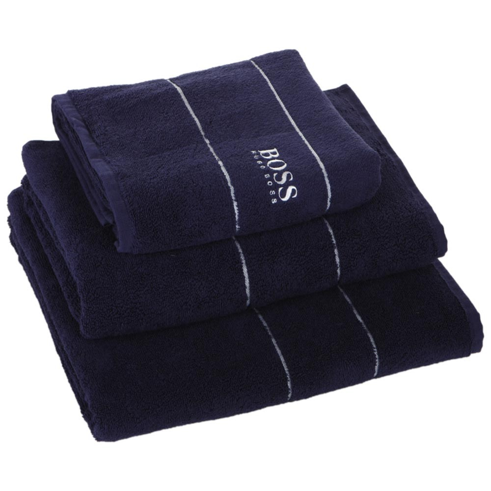 Buy Hugo Boss Plain Towel Navy Bath Sheet Amara