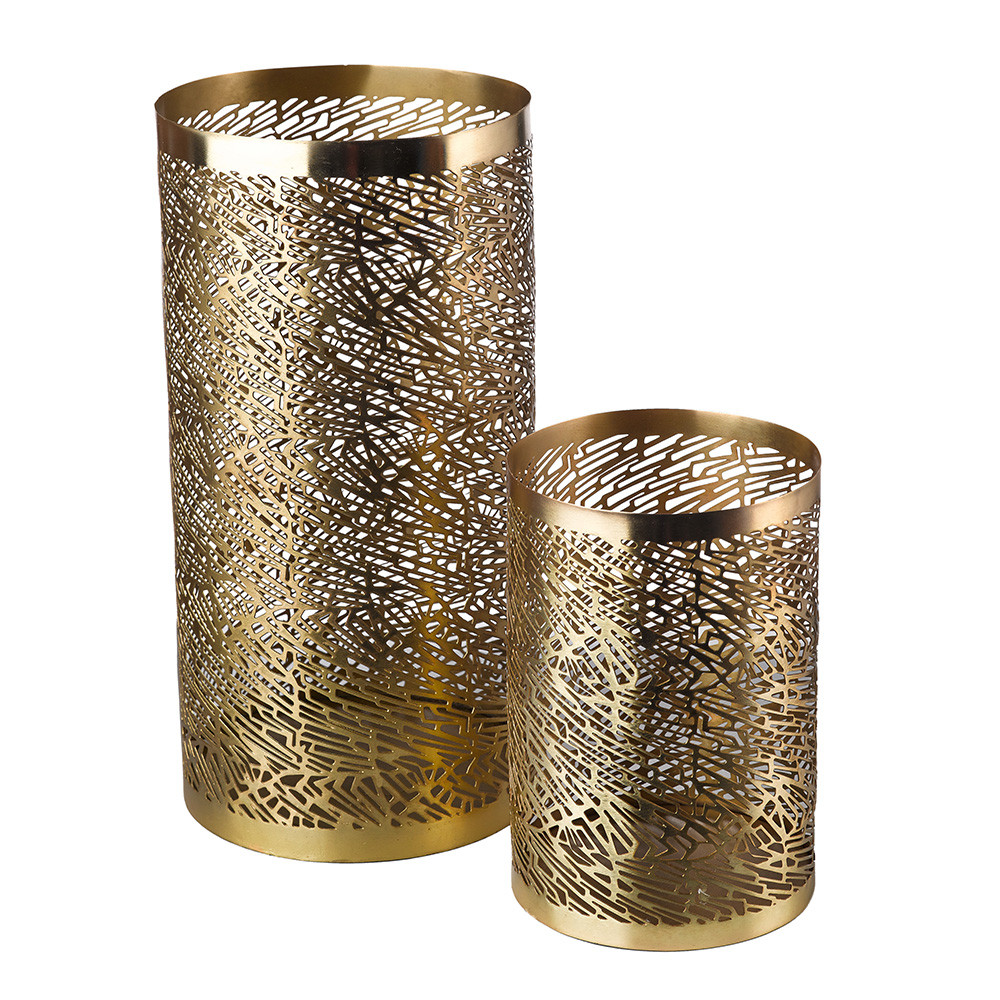 Pols Potten - Pierced Candle Holder - Brass - Large