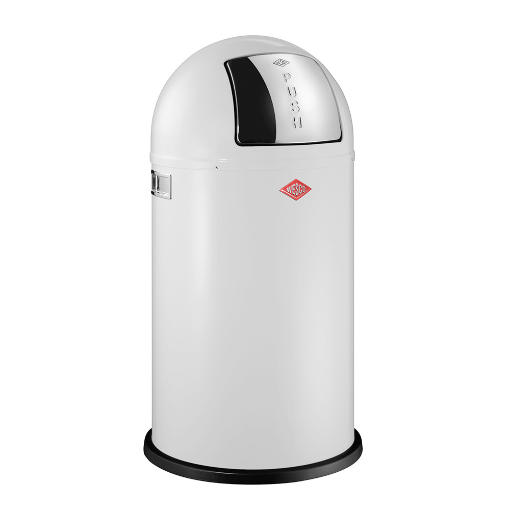 buy wesco pushboy trash can 50l white amara. Black Bedroom Furniture Sets. Home Design Ideas