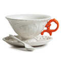 Seletti - I-Wares Porcelain Tea Set - Orange