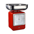 Wesco - Retro Scale with Clock - Red
