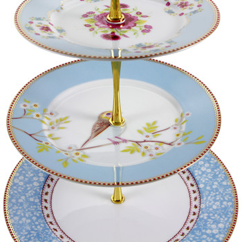 3 Tier Cake Stand - Blue