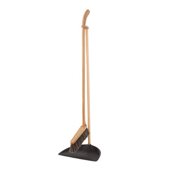 Tall Dustpan & Brush Set - Black