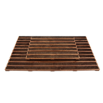 Wooden Door Mat - Brown
