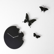 large-butterfly-wall-clock-black