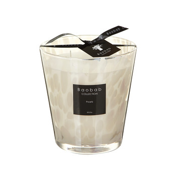 Scented Candle - Hyacinth & Melon White Pearls - 16cm