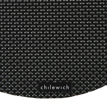 Basketweave Round Placemat - Black