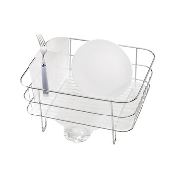 Brushed Steel Compact Dish Rack