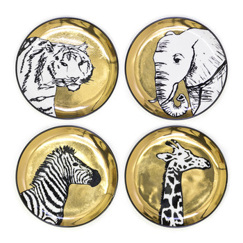 Animalia Coasters - Set of 4