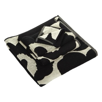 Unikko Towel - Black/Sand