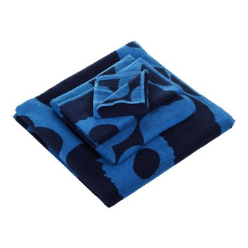 Unikko Towel - Blue/Blue