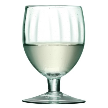 Mia Partial Optic Wine Glasses - Set of 4