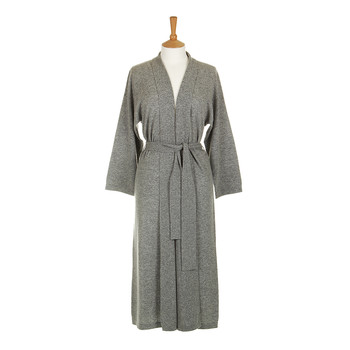 Legere 100% Cashmere Dressing Gown - Soft Grey