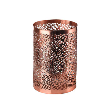 Pierced Candle Holder - Copper