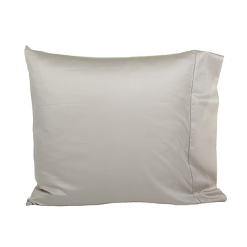 Langdon Solid Pillowcases - Silver - Set of 2 - 65x65cm