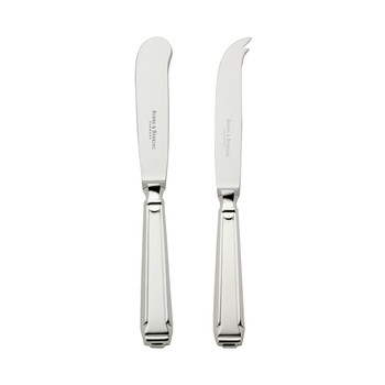 Art Deco Hollow Handle Butter & Cheese Knives