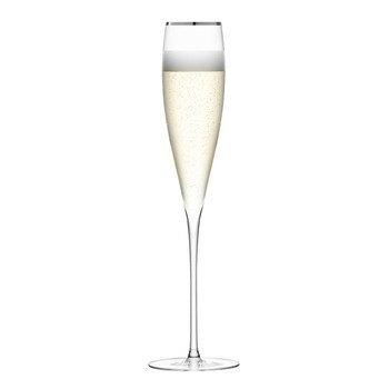 Savoy Champagne Flutes - Set of 2 - Platinum
