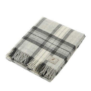 Skye Check Throw - Gray Shetland