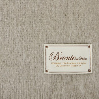 Mohair Throw - Squirrel Grey
