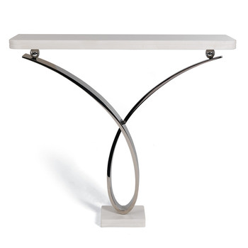 Byron 02 Console Table - Mirrored Stainless Steel