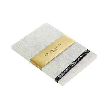 Paseo Embossed Notepad - Silver - A6