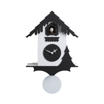 Chalet Wall Clock - White/Black