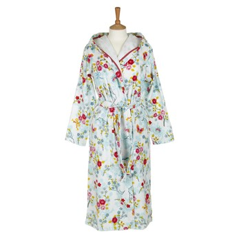 Chinese Blossom Bathrobe - White