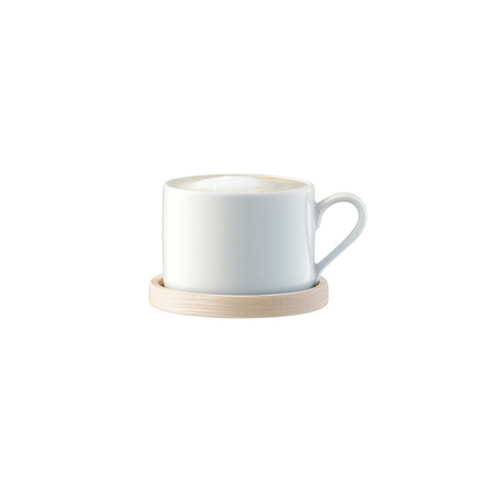LSA International - Circle Tea for One & Ash Handle and Saucer