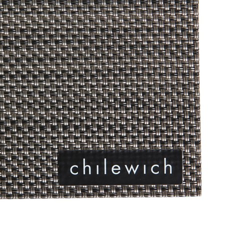 Chilewich - Mini Basketweave Rectangle Placemat - Light Grey
