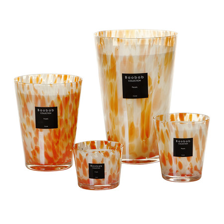 Baobab Collection - Pearls Scented Candle - Coral Pearls - 35cm