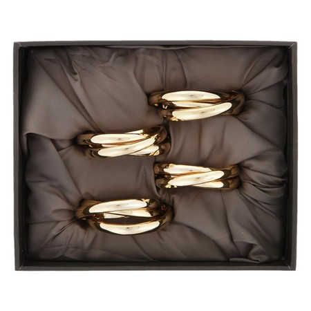 L'Objet - 3 Ring Napkin Rings - Set of 4