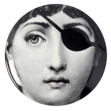 Fornasetti - Tema e Variazioni Wall Plate - No. 8 - Black and White